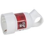 Изображение Legrand Элиум Белый Розетка 2Р+Е, 16А, кабель мах 3х.2.5, пластик