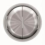 """Изображение ABB SKY Moon Клавиша для 2-клавишных выключателей/переключателей/кнопок, кольцо """"хром"""""""