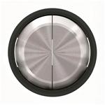 """Изображение ABB SKY Moon Клавиша для 2-клавишных выключателей/переключателей/кнопок, кольцо """"чёрное стекло"""""""
