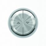 """Изображение ABB SKY Moon Клавиша для механизма выключателя жалюзи 8144 и 8144.1, кольцо """"хром"""""""