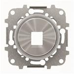 """Изображение ABB SKY Moon Накладка для 1-го суппорта/разъёма типа 2017... или 2018..., со стальным суппортом, кольцо """"хром"""""""