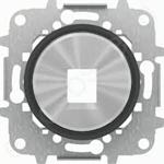"""Изображение ABB SKY Moon Накладка для 1-го суппорта/разъёма типа 2017... или 2018..., со стальным суппортом, кольцо """"чёрное стекло"""""""