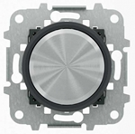 """Изображение ABB SKY Moon Мех электронного поворотного светорегулятора для люминесцентных ламп 700 Вт, 0/1-10 В, 50 мА, кольцо """"чёрное стекло"""""""