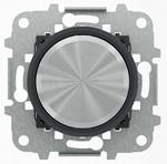 """Изображение ABB SKY Moon Мех электронного универсального поворотного светорегулятора 60 - 500 Вт, кольцо """"чёрное стекло"""""""
