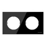 Изображение ABB SKY Moon Стекло чёрное Рамка 2-постовая
