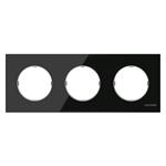 Изображение ABB SKY Moon Стекло чёрное Рамка 3-постовая