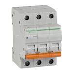 Изображение SE Домовой ВА63 Автоматический выключатель 3P 63A (C) 4.5kA