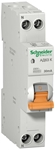 Изображение SE Домовой АД63 Дифференциальный автоматический выключатель К 10А С 30мА 1P+N 4500А АС 1 мод.