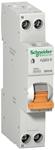 Изображение SE Домовой АД63 Дифференциальный автоматический выключатель К 32A 30мА 1П+Н 4,5кА C АС, 18 мм