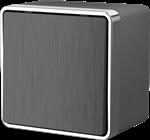 Изображение Выключатель одноклавишный влагозащищенный Gallant (графит рифленый)