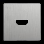Изображение Накладка для розетки HDMI (серебряный рифленый)
