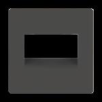 Изображение Накладка для двойной розетки Еthernet RJ-45 (серо-коричневый)