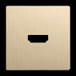 Изображение Накладка для розетки HDMI (шампань рифленый)