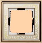 Изображение Рамка на 1 пост (золото/белый)