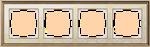 Изображение Рамка на 4 поста (золото/белый)