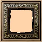 Изображение Рамка на 1 пост (золото/черный)