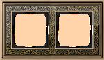 Изображение Рамка на 2 поста (золото/черный)