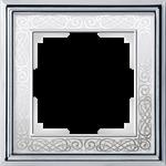 Изображение Рамка на 1 пост (хром/белый)