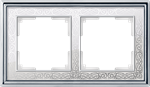 Изображение Рамка на 2 поста (хром/белый)