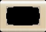 Изображение Рамка для двойной розетки (шампань)