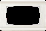 Изображение Рамка для двойной розетки (перламутровый)