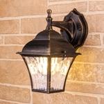 Изображение Apus D черное золото уличный настенный светильник