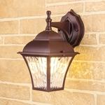 Изображение Apus D шоколад уличный настенный светильник