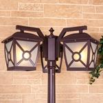 Изображение Columba F/3 коричневый уличный трехрожковый светильник на столбе IP33