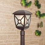 Изображение Columba F коричневый уличный светильник на столбе IP44