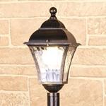 Изображение Apus F черное золото уличный светильник на столбе IP44
