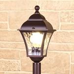 Изображение Apus F шоколад уличный светильник на столбе IP44