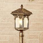 Изображение Corvus F черное золото уличный светильник на столбе IP44