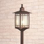 Изображение Vela F кофейное золото уличный светильник на столбе IP44