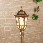 Изображение Dorado F черное золото уличный светильник на столбе IP44