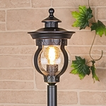 Изображение Barrel F черное золото уличный светильник на столбе IP44