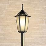 Изображение Уличный светильник на столбе IP44 GL 1014F черное золото