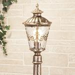 Изображение Diadema F черное золото уличный светильник на столбе IP44