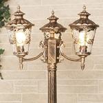 Изображение Diadema F/3 черное золото уличный трехрожковый светильник на столбе IP44