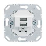 Изображение 2-ая USB-розетка для подзарядки 230 V, 3.0A цвет: белый Berker