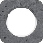 Изображение R.1 Рамка 1-ная, бетон шлифованный/белый Berker