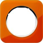 Изображение R.1 Рамка 1-ная, акрил оранжевый/белый Berker