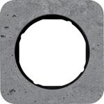Изображение R.1 Рамка 1-ная, бетон шлифованный/чёрный Berker
