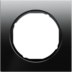 Изображение R.3 Рамка 1-ная, черное стекло Berker