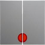 Изображение S.1/B.3/B.7 Клавиша 2-ная с 2-мя красн. линзами, белый матовый Berker