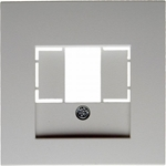 Изображение S.1/B.3/B.7 Накладка TAE/USB, белый матовый Berker