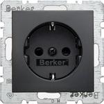 Изображение S.1/B.3/B.7 Розетка со шторками2К+З 16А 250В~, антрацит матовый Berker
