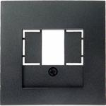 Изображение S.1/B.3/B.7 Накладка TAE/USB, антрацит матовый Berker