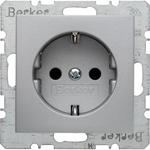 Изображение S.1/B.3/B.7 Розетка со шторками2К+З 16А 250В~, алюминий матовый Berker
