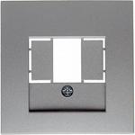 Изображение S.1/B.3/B.7 Накладка TAE/USB, алюминий матовый Berker