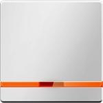 Изображение Q.1/Q.3 Клавиша 1-ная с линзой и оранж. каймой, белый бархат Berker